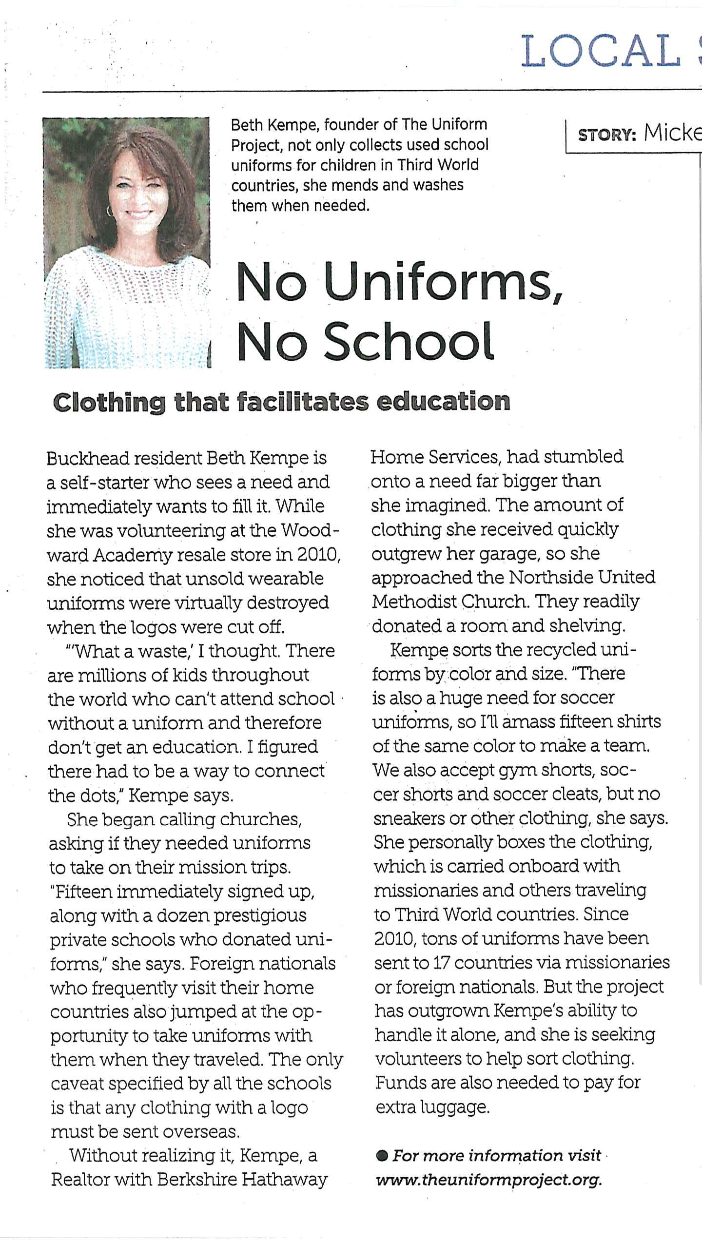 Articles & Praise | The Uniform Project